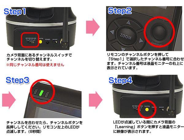 追加カメラの設定もカンタンシンプル!