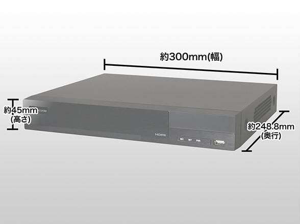 AJ-RA6004-4TB 日本製 ARUCOM EYE 4000GB HDD内蔵 4chDVR