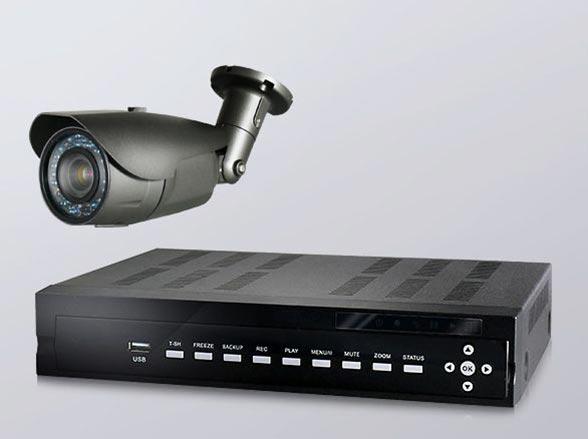 AHDカメラ威嚇効果抜群!220万画素屋外バレット型1~4台(RD-CA213)防犯セット